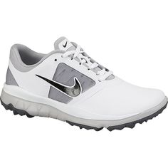 Nike Women s FI Impact Golf Shoes - WHITE GREY  bf1f18e79