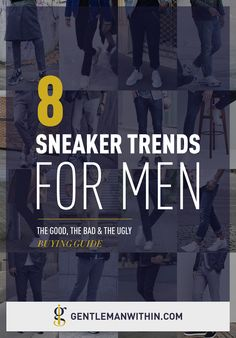 Men's Sneaker Trends The Good, Bad & Ugly // In this article I'm going to touch on the biggest men's sneaker trends for 2019 — the good, the bad, and the ugly & where to shop for them. Dad Sneakers, Best Sneakers, Casual Sneakers, Sneakers Fashion, Fashion Shoes, Fashion Trainers, Leather Sneakers, Fashion Outfits, Ugly Shoes