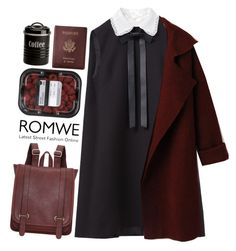 """#Romwe"" by credentovideos ❤ liked on Polyvore featuring Valentino, Royce Leather and Typhoon"