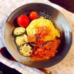 ズッキーニとナスが夏を感じさせる〜♡ - 10件のもぐもぐ - 夏野菜のオムライス by ykmama
