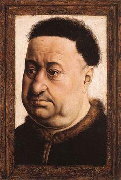 Portrait of a Fat Man by Robert Campin