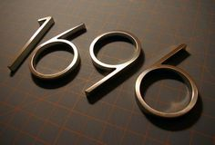 Nice alternative to the Neutra numbers  Great Finds: Modern House Numbers on the Cheap