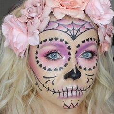 15 To-Die-For Sugar Skull Makeup Looks That Win Halloween Related posts: 10 wunderschöne Halloween Make-up Looks Korean Makeup Looks 2018 einige Makeup Bag Hard Case; … Indian Wedding Season Makeup Looks with SUGAR Sugar Skull Make Up, Sugar Skull Face Paint, Sugar Skull Makeup Easy, Sugar Skull Halloween Makeup, Sugar Skulls, Sugar Skull Makeup Tutorial, Sugar Skull Costume Diy, Sugar Skull Crafts, Halloween Makeup Looks