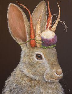 Shop Garden King card created by vickisawyer. Lapin Art, Garden King, King Card, Year Of The Rabbit, Photo D Art, Rabbit Art, Jack Rabbit, Bunny Art, Folk Art