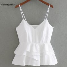 Cheap halter top, Buy Quality white crop directly from China white crop top Suppliers: SheMujerSky White Crop Top Women 2017 Summer Sleeveless Halter Tops Femme Sexy Cropped Cute Summer Outfits, Trendy Outfits, Girl Outfits, Cute Outfits, Girl Fashion, Fashion Dresses, Fashion Clothes, Style Fashion, Womens Fashion