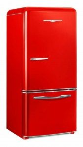 New, retro look red refrigerator $4195