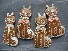 Easter - gingerbread cat couples