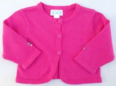 The Children's Place Pink Button Down Rose Cardigan Sweater Sz 3-6 MON NWT #TheChildrensPlace #Cardigan #DressyEveryday