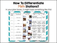 A Differentiated Kindergarten: Daily 5: 2nd Edition-Daily 3 Math - My Differentiated Kinder Spin on it!  And a Differentiated LESSON PLAN for stations.