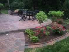 bed ideas landscaping idea around patio. Patio slightly raised.landscaping idea around patio. Patio slightly raised. Landscaping Around Patio, Backyard Patio, Garden Landscaping, Landscaping Ideas, Inexpensive Landscaping, Garden Path, Garden Bed, Herb Garden, Raised Patio