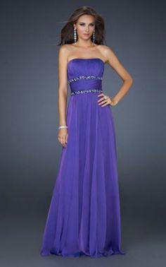 La Femme 17264 Long Strapless Prom Dress Cheap