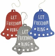 Oversized Let Freedom Ring Bell SignsSet of Three50% Off!