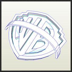 Warner Bros. Logo Free Papercraft Download - http://www.papercraftsquare.com/warner-bros-logo-free-papercraft-download.html