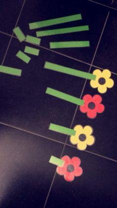 Meten met de stengels van bloemen
