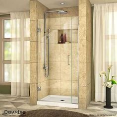 Shower Enclosures and Doors 121850: Dreamline Shdr-243607210-04 Unidoor Plus 72 High X 36-1 2 Wide Hinged Frameles -> BUY IT NOW ONLY: $480.48 on eBay!