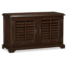 Holstead Shutter Small Media Console #potterybarn