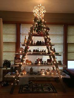 Christmas Village Ladder Display.Village Decoration Ideas Decoration For Home