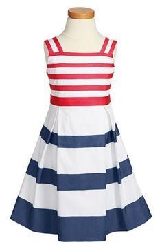 Oscar de la Renta Grosgrain Ribbon Dress (Toddler Girls, Little Girls & Big Girls) available at #Nordstrom
