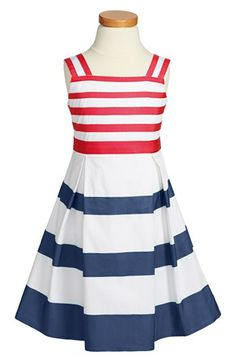 Oscar de la Renta Grosgrain Ribbon Dress (Toddler Girls, Little Girls & Big Girls) available at #Nordstrom