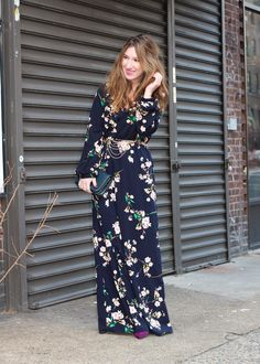 Literally OBSESSED with this floral maxi! // TfDiaries By Megan Zietz