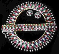 Enamel & Diamond Argyle Collar, Bracelet & Earrings Set,Marcel Boucher Masterpiece.