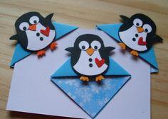 Buchecken/Lesezeichen  Pinguine von Wollzottel auf DaWanda.com