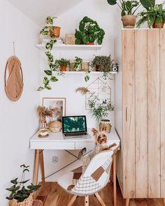 Home Office Design, Home Office Decor, Home Decor, Office Designs, Deco Nature, Boho Room, Aesthetic Room Decor, New Room, Room Inspiration