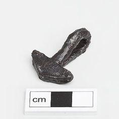 Forged iron viking mjolnir pendant from Stockholm, Sweden.