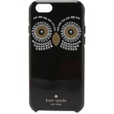 Kate Spade New York Embellished Owl iPhone 6 Case ($46) ❤ liked on Polyvore featuring accessories, tech accessories, phone cases, black, black iphone case, iphone cases, kate spade, kate spade iphone case and apple iphone cases