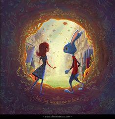Book Wonderland by *minitreehouse on deviantART by lorena alvarez