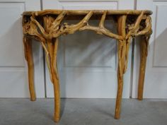 VTG-CHINESE-ELM-TREE-ROOT-BURL-DEMILUNE-TABLE-ENTRY-SOFA-ASIAN-SCULPTURE-RUSTIC