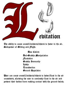 Charmed Series Book of Shadows: Levitation » Metaphysic Study