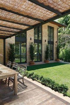 Backyard Pergola Ideas Patio Design Bricks 45 Ideas For 2019 Future House, Outdoor Rooms, Outdoor Living, Design Exterior, Modern Exterior, Beautiful Homes, Beautiful Interiors, Architecture Design, Sustainable Architecture