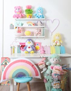 20 Adjustable Spice Rack to Tidy Up All Your Knick Knacks Home Design Ideas & Inspirations 20 Adjustable Spice Rack to Tidy Up All Your Knick KnacksThe sort of rack you decide to purchase will b Rainbow Room Kids, Rainbow Bedroom, Baby Room Design, Baby Room Decor, Pastel Room, Pastel Nursery, Kawaii Room, Toddler Rooms, Toy Rooms