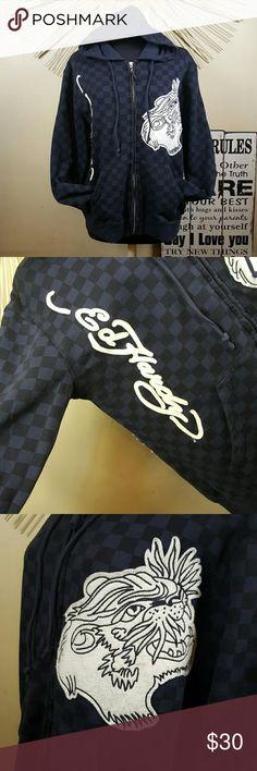 Ed Hardy Patchwork Hoodie Great Condition. Minor wear. Ed Hardy Shirts Sweatshirts & Hoodies
