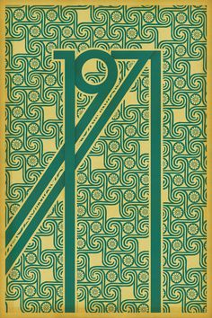 Art Déco variations for the 1971's poster