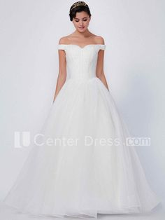 $147.39-Beautiful A-Line Long Off-The-Shoulder Tulle Wedding Dress With Corset Back. http://www.ucenterdress.com/a-line-floor-length-off-the-shoulder-tulle-wedding-dress-with-corset-back-pMK_100127.html.  Shop for Best wedding dresses, Lace wedding dress, modest wedding dress, strapless wedding dress, backless wedding dress, wedding dress with sleeves, mermaid wedding dress, plus size wedding dress, We have great 2016 fall Wedding Dresses on sale. Buy Wedding Dresses online at…