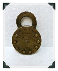 Antique Vintage No Key Lock with Combination Padlock American Keyless Lock Co Brass Padlock Collectible by WallflowerAntiques on Etsy