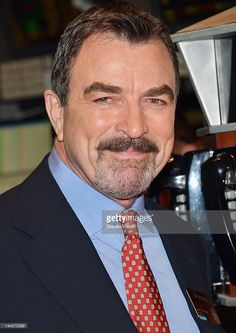 CBS's 'Blue Bloods' cast member Tom Selleck visits the New York Stock Exchange on May 16, 2012 in New York City.