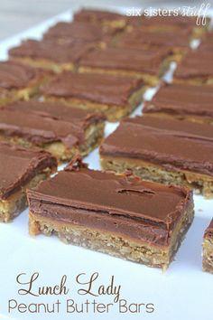 Lunch Lady Peanut Butter Bars | Six Sisters' Stuff