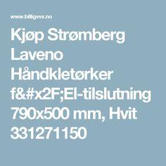 Kjøp Strømberg Laveno Håndkletørker f/El-tilslutning 790x500 mm, Hvit 331271150