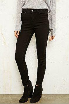Cheap Monday - Jean taille haute seconde peau noir