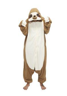 Sloth Kigurumi Anime Cosplay Pyjamas Costume Hoodies Adult Onesie Fancy  Dress in Clothes 8e2ae78763278