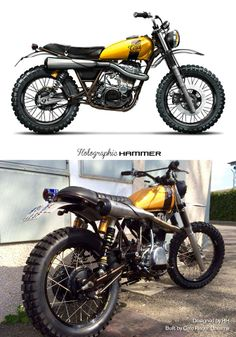 pinterest.com/fra411 #classic #scrambler - Holographic Hammer from paper to reality