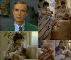 Mr Rodgers neighborhood talks about food: breast feeding . I miss Mr.Rodgers