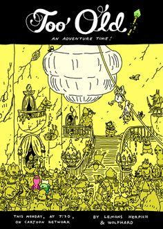 Ilustración promocional del episodio 'Too Old' de Hora de Aventuras.