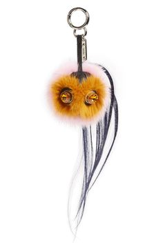 Fendi 'Mini Qutweet Monster' Genuine Mink & Goat Fur Bag Charm