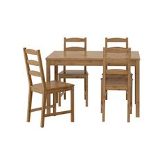 IKEA JOKKMOKK Table and 4 chairs, antique stain ($149) ❤ liked on Polyvore featuring home, furniture, table and 4 chairs, lacquer furniture and antique furniture