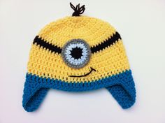 crochet minion -- too bad it's not Dave. But lol I like the way the one eyed minion looks. Hahaha whatever they're all silly. I want one