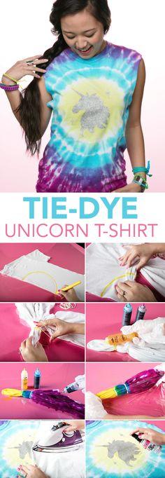 Tie Dye Unicorn Shirt using Tulip One-Step Tie Dye